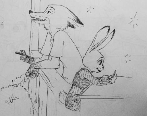 Comic: Late Nights (by charlenesketch)