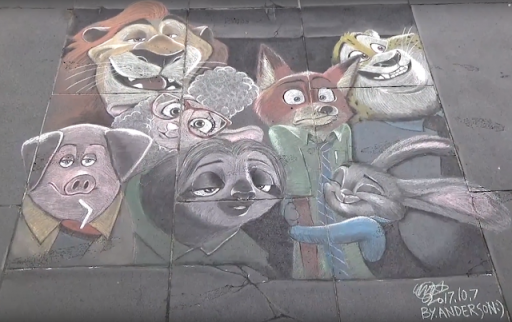 Awesome Zootopia Street Art! (by Anderson Episode)