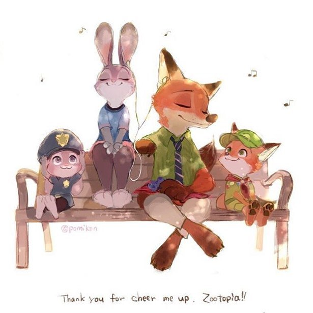 Special Art of the Day #242: Young Nick and Judy
