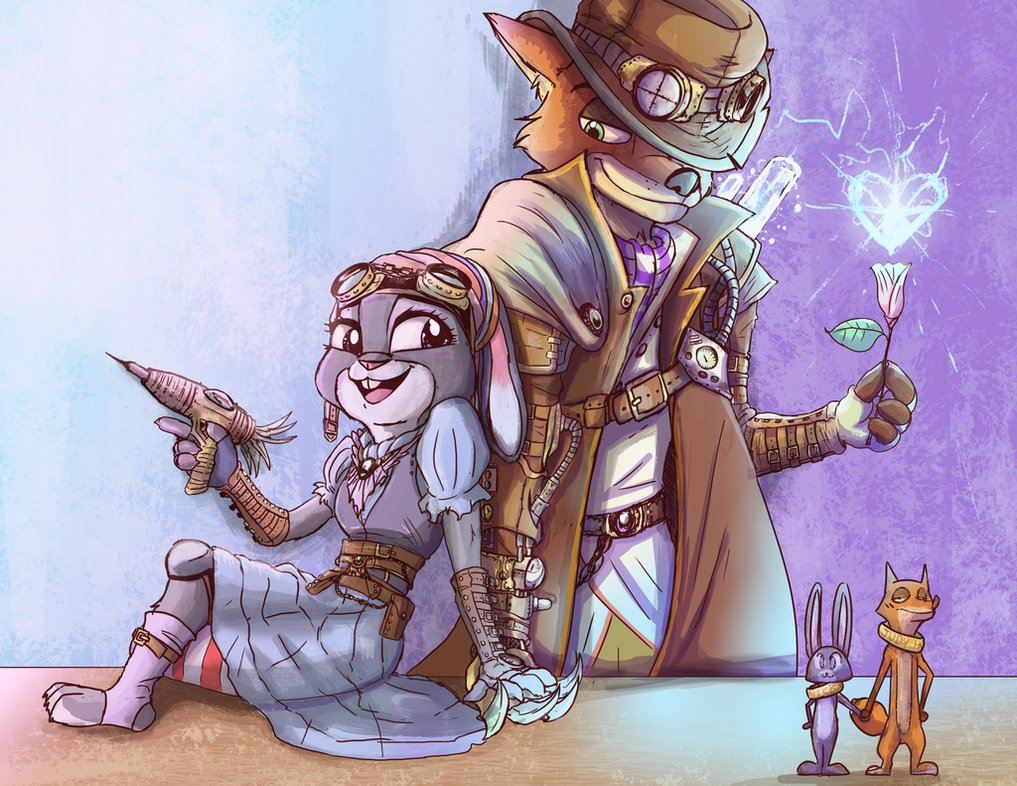 Special Art of the Day #258: Steampunk Zootopia